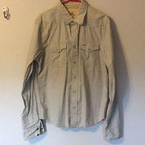 Hollister size large western style shirt